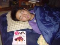 菅ちゃんが寝てます